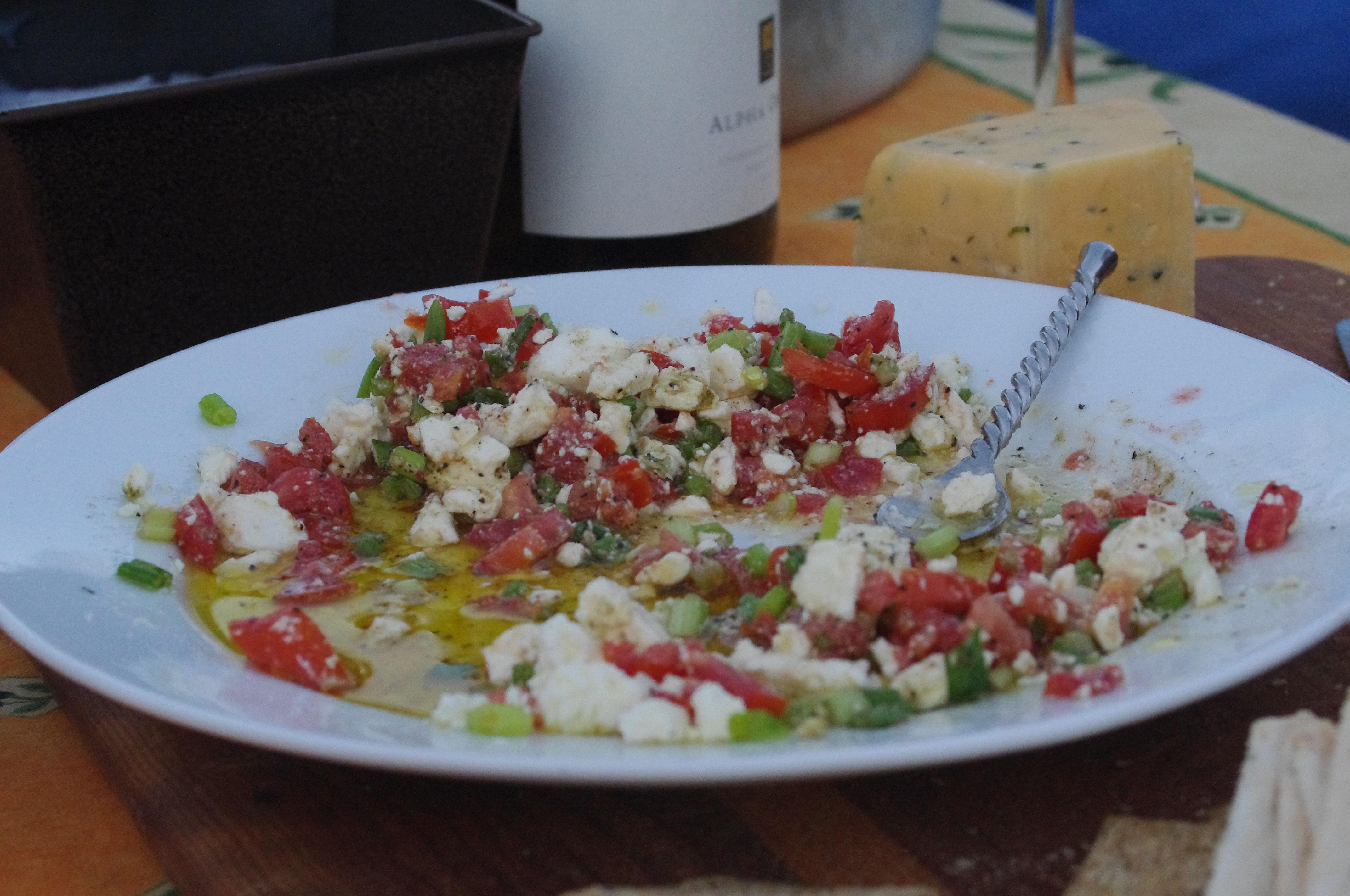 Greek Feta Tomato Dip | Relish Food & Life with Jill
