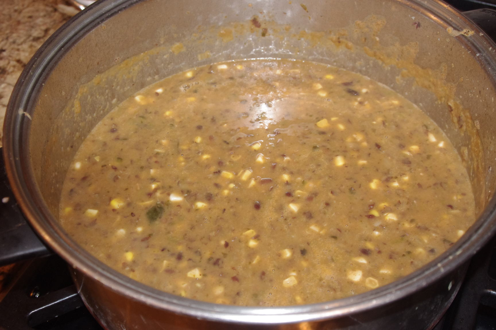 Poblano And Bacon Bountiful Black Bean Soup Recipe — Dishmaps