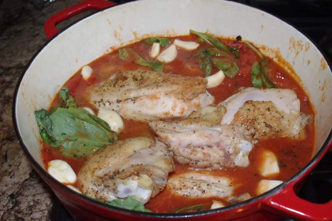 Chicken with Tomatoes and Garlic and Upside-Down Cinnamon ...
