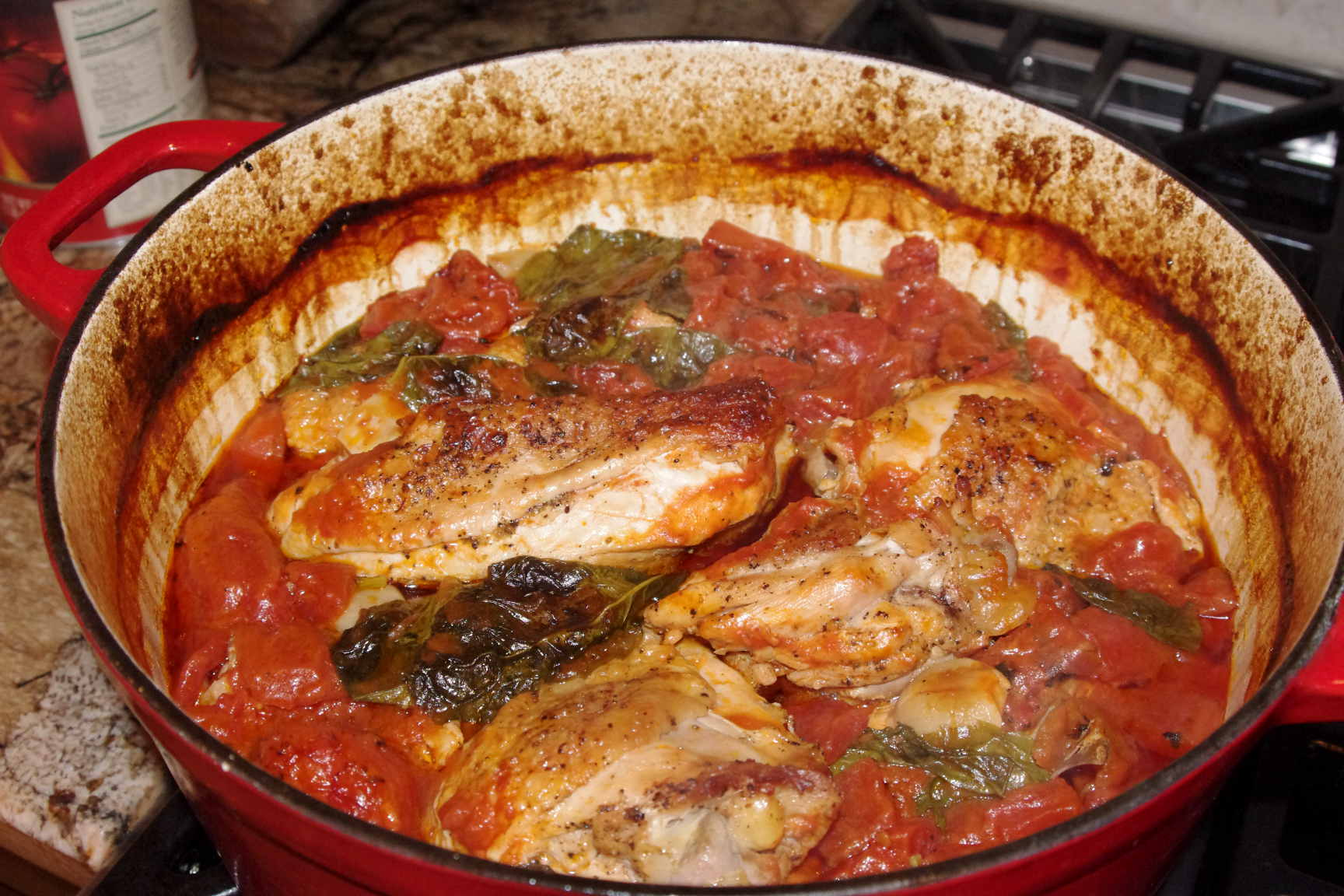 Chicken with Tomatoes and Garlic and Upside-Down Cinnamon-Apple Coffee ...