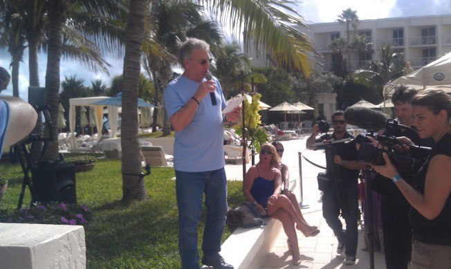 Marc Summers from Unwrapped, Food Network Channel. He was just hanging out everywhere.